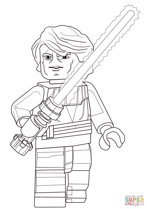 coloring pages wars lego lego wars anakin skywalker coloring page free