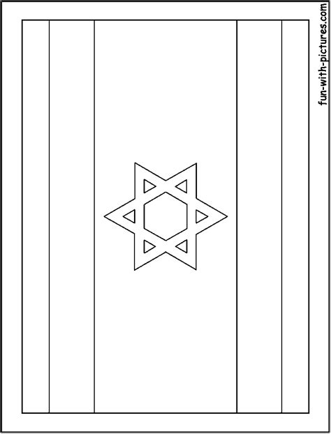 israel flag coloring page