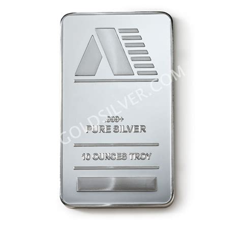 10 Ounces Of Silver by 10 Troy Ounce Silver Bars