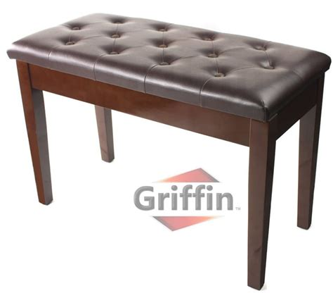 heavy duty piano bench griffin double brown leather piano bench vintage design