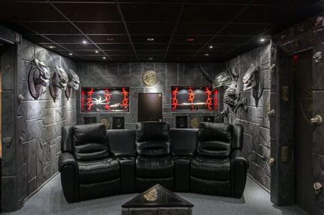 Home Theatre Decoration Ideas 50 Gaming Man Cave Design Ideas For Men Manly Home Retreats