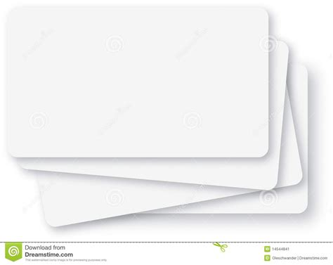Blank Card Rectangle Curved Corners Template by Blank White Index Cards Stock Image Image 14544841