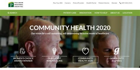 Modern Home Design Websites hospital web design showcase 6 examples of the best