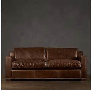 Restoration Hardware Leather Sofa For Sale Restoration Hardware Sofa Restoration Hardware Collins Leather Sofa Office Project 2012