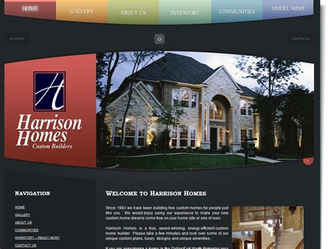 construction website design  harrison homes  web