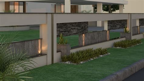 beautiful boundary wall design  essential  modern