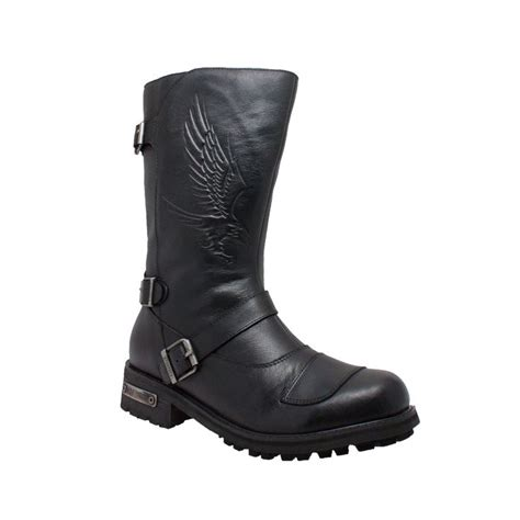 engineer biker boots ride tecs mens black 12in shifter pad engineer boot