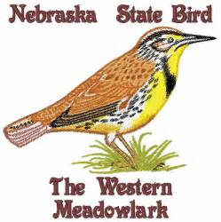 nebraska state bird embroidery design annthegran