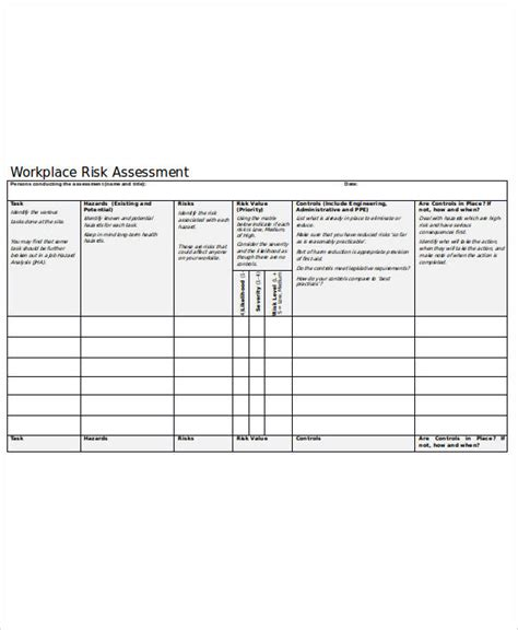 38 Sle Sheets Sle Templates Workplace Hazard Assessment Template