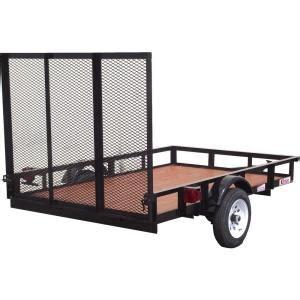 husky  ft   ft utility trailer su  home depot