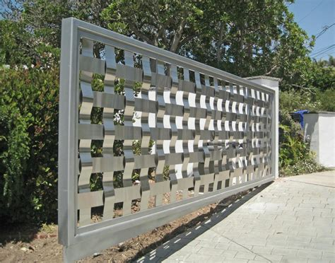 steel gate fence how to make fence
