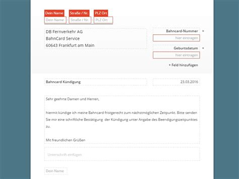 Anschreiben Deutsche Bahn Vorlage Bahn Ticket K 252 Ndigung Vorlage Chip