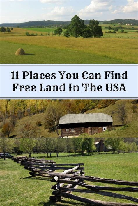 Find In Usa For Free 11 Places You Can Find Free Land In The Usa Home And Gardening Ideas