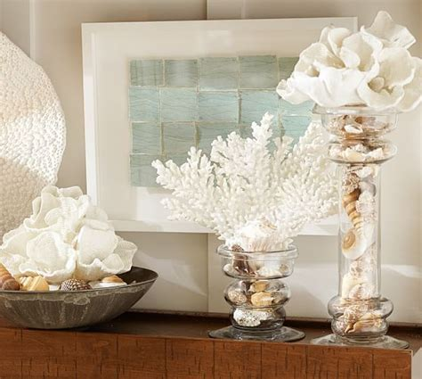 faux spike coral tropical home decor by pottery barn white spike coral pottery barn