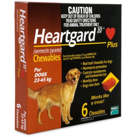heartgard for dogs heartgard plus chewables large dogs 23 45kg brown