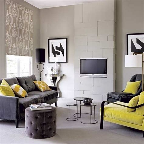 grey yellow green living room yellow and grey color scheme
