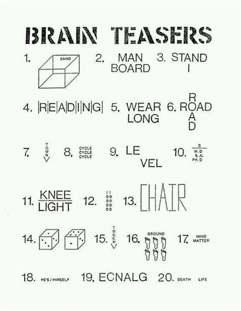 printable logic puzzles and brain teasers brain teaser riddles for kids riddles for kids