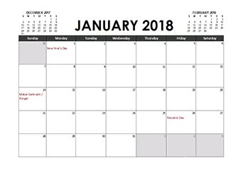 excel calendar template 2018 with holidays free printable 2018 south africa calendar templates with
