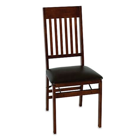 bed bath and beyond chairs cosco 174 wood folding chair with walnut finish bed bath