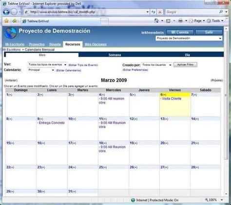 Ejemplos De Calendarios Tekhne Calendarios Y Tareas