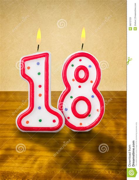 Blueprint For House by Birthday Candles Number 18 Stock Photos Image 38372723