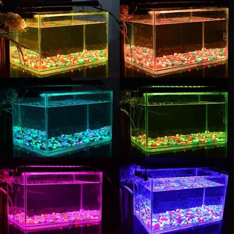 color changing led fish tank lights 1pcs aquarium fish tank fishbowl light 14w rgb 72 led