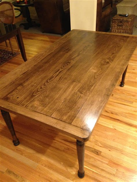 solid maple dining table crafted solid maple farmhouse dining table with