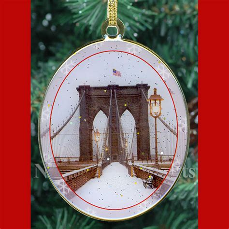 new york city landmarks christmas ornaments gift set
