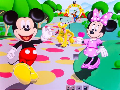 minnie mouse play house mickey mouse clubhouse mural sacredart murals