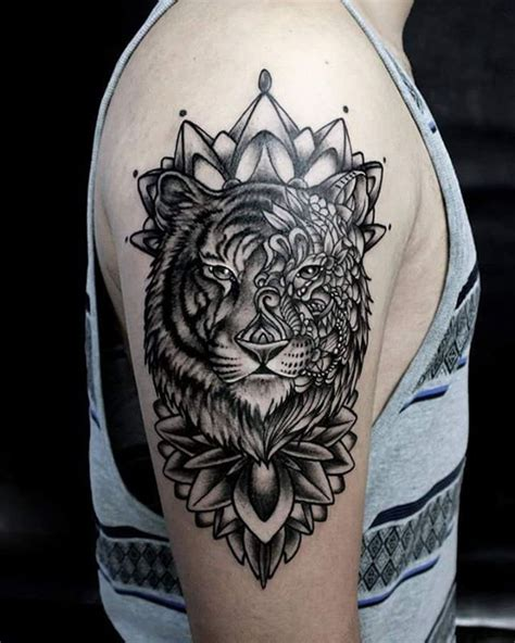 mandala animal tattoo tumblr tigre y mandalas