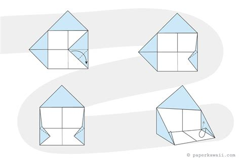 House Origami - how to make a simple origami house