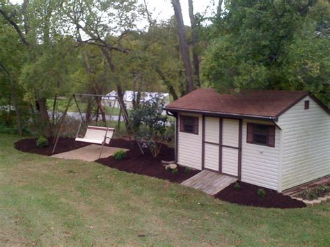 Landscaping Around A Shed by J C Pryor Landscaping Mulch Trees And Shrubs Hanover Pa