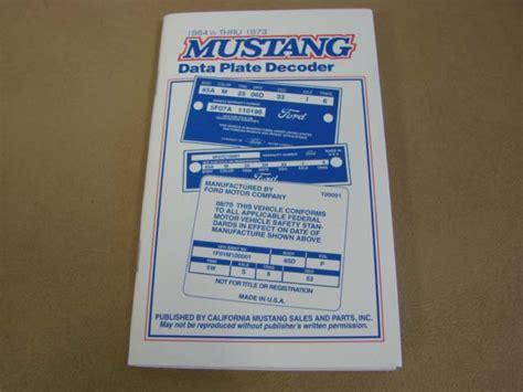1965 mustang data plate decoder mlt 14 data plate decoder for 1965 1966 1967 1968 1969