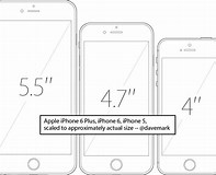Image result for iPhone 6 Real Size