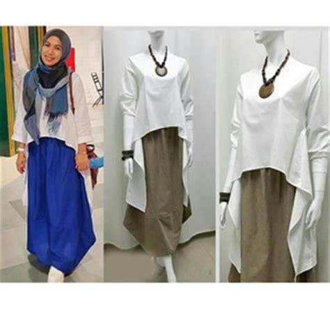 All Size Atasan Blouse Lengan Panjang Wanita Btat24453af Katun baju atasan wanita blouse mermaid warna putih lengan