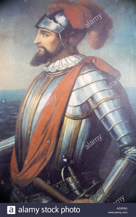 vasco nunez portrait of vasco nunez de balboa stock photo royalty