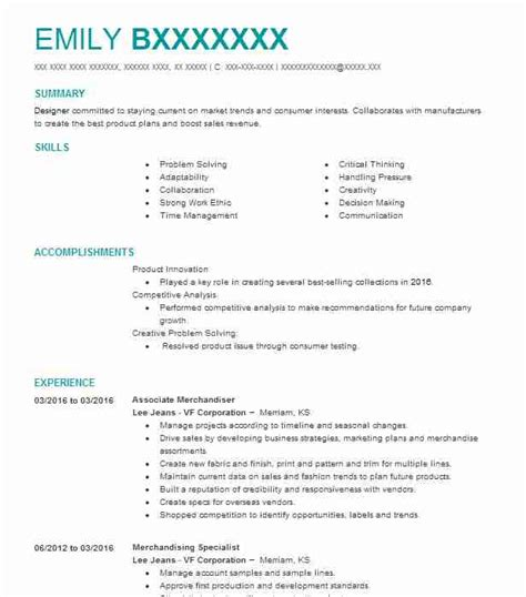 2719 product design resume exles fashion and