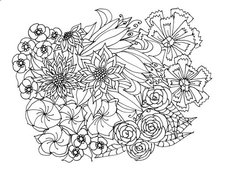 leaves coloring pages for adults adult coloring pages flowers plants garden
