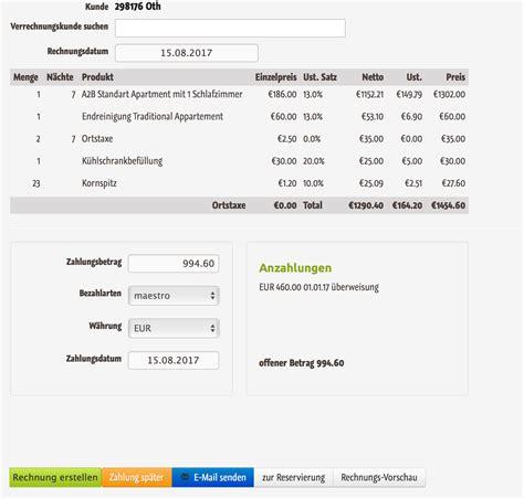 Muster Rechnung Mit Anzahlung Anzahlungen F 252 R Reservierungen