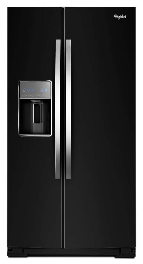 whirlpool wrs950siae 29 7 cu ft side by side refrigerator w microedge 174 shelves black