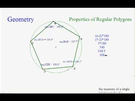 How To Find The Interior Angle Of A Hexagon Measure Of An Interior Angle In A Regular Polygon Youtube