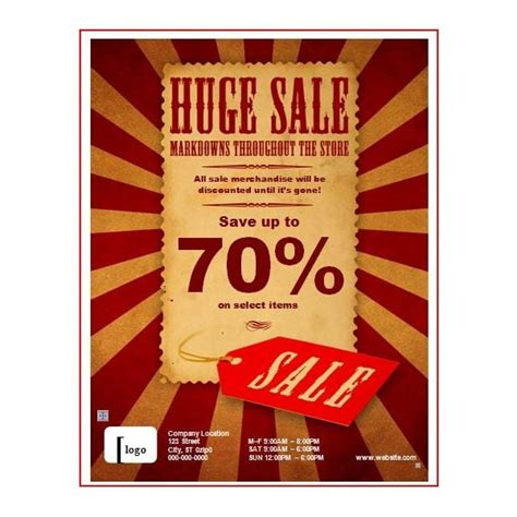 7 Free Sale Flyer Templates Excel Pdf Formats Sales Flyer Template