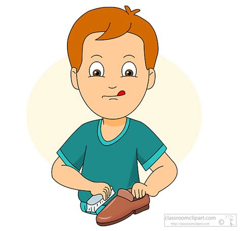 boats and hoes clipart household clipart child polishing shoe classroom clipart