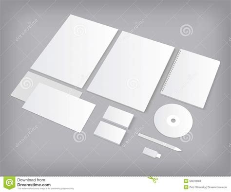 Ci Template by Set Of Ci Templates Mock Up With Business Cards Stock