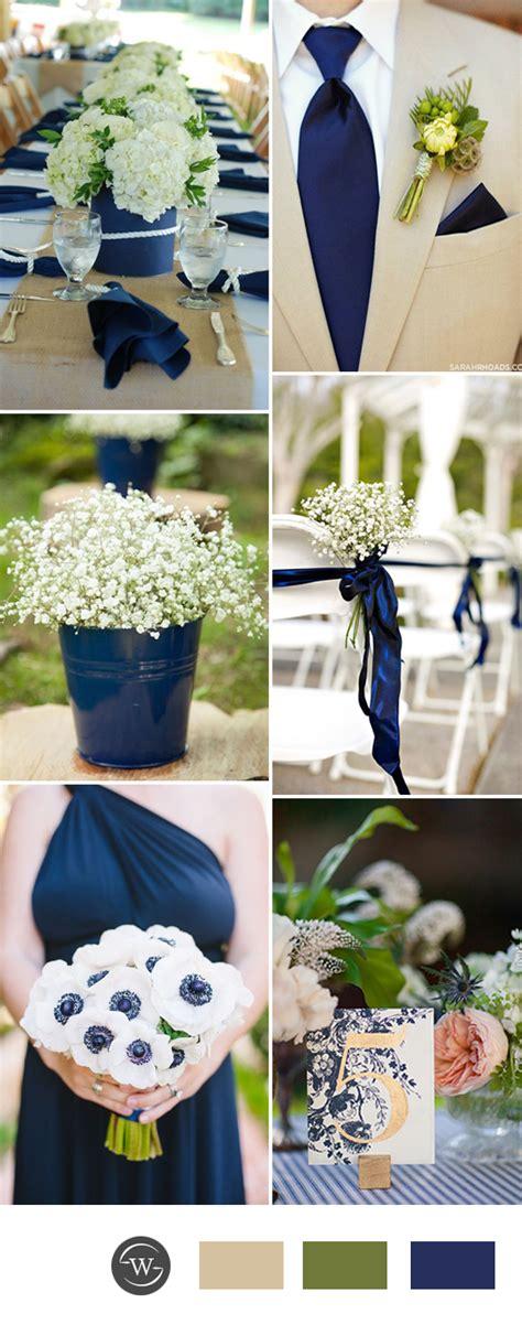 stunning navy blue wedding color combo ideas