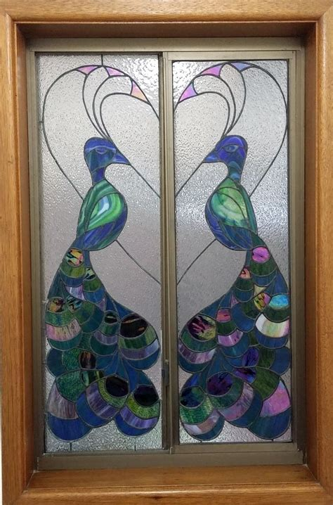 peacock stained glass l 117 best images about stained glass peacock on pinterest