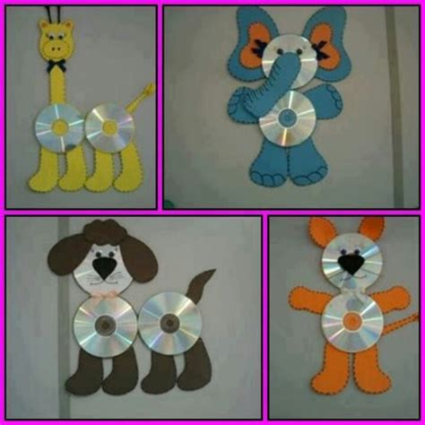 cd crafts for cd animal teaching ideas pictures home