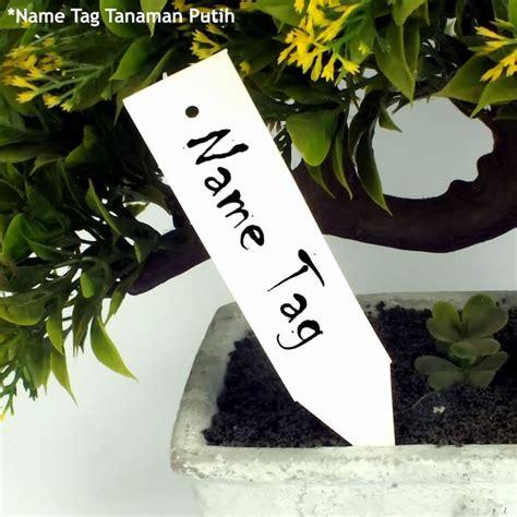 label tanaman  tag id plant hidroponik plastik isi