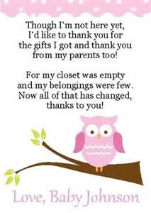 2 adorable owl baby shower thank you cards ebay baby