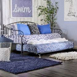 Daybed Trundle Bed Furniture Of America Hton Traditional Style Metal Daybed With Trundle Daybeds At Hayneedle